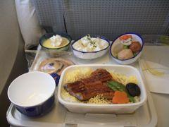 Japan Airlines HKG?KIX JL702 Hong Kong to Kansai 11 Dec. 2005 ☆☆☆  復路も二種類の中から選択できましたが、選んだのは鰻丼。なかなか美味しかったです。香港に近い広州から多くの鰻が日本に輸入されているということですが、この鰻も広州産なのでしょうか?