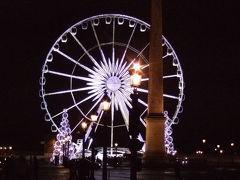 コンコルド広場、オベリスクと重なる大観覧車。