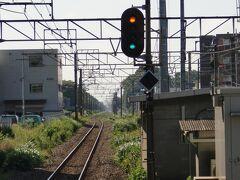 淵野辺(ふちのべ)駅    上り出発信号機  単線時代の旧本線。 直進状態の下り線が駅構内直前で湾曲しているが、単線時代は現在の上り線に繋がっていた痕跡。  http://www.jreast.co.jp/estation/station/info.aspx?StationCd=1373