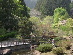 松前公園の中にある日本庭園。