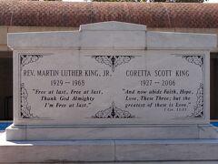 マーチン・ルーサー・キング・ジュニア牧師の墓石
