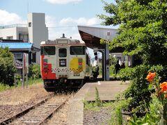 12時34分。終点仙崎駅に到着