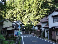 8:00、石見銀山の集落、大森でバスを下車