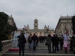 ローマの中心、カンピドーリオ。
