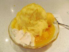 Ice Monster 鮮芒果綿花甜 200元 むーマンゴー好きとして、これは贅沢すぎる! 大して混んでおらず、すぐに食べられた。