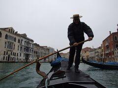 ヴェネチア ゴンドラ船に乗った。歌も歌っていただいて
