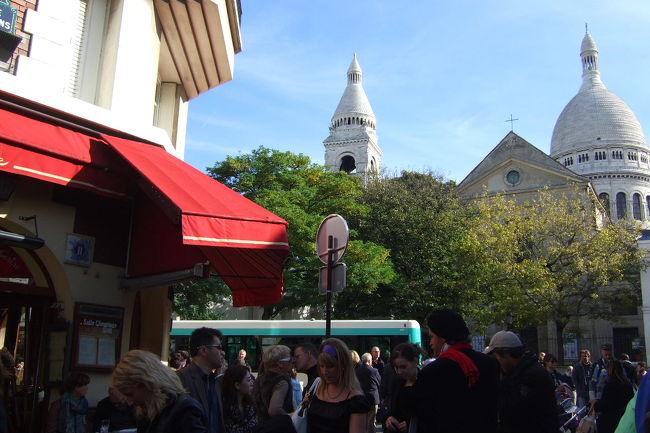 パリのお散歩 青空に誘われ ラ・ビュット・モンマルトル Balade dans le Montmartre