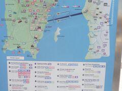 コムタータワーと、ジェッティフェリー乗り場からペナン各地方行きのバスが出ています。