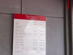 ケーブルカー代金 マレー人は8R 外国人特別料金は30R=900円ぼったくりです。ここへ来るバス代は2.5R=70円(1時間)ですからかなりのぼったくりものです。