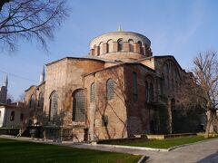 第1庭園にはビザンツ時代にのアヤ・イリニ教会もある。