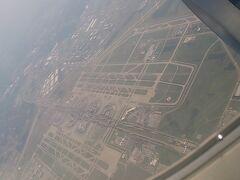Dallas空港が見えてきました。