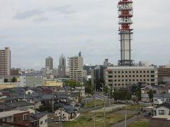 新潟に到着、新幹線の車窓から