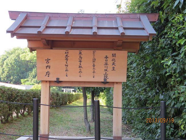 古代天皇陵墓、古墳めぐり 奈良編 (1)