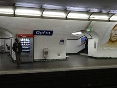 パリメトロオペラ駅