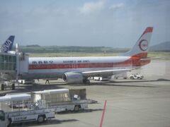 オマケ(新石垣空港、出発当日朝)  これに乗った訳ではないですが、昔の南西航空の塗装のトランスオーシャン機なので掲載しました。