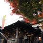 自宅から2時間弱、JR青梅線御嶽駅に到着しました。 ちょっとレトロな駅ですね?。  紅葉シーズンのせいか、満員電車並みに混んでいました。 降りてからもケーブルカー行きのバスは長蛇の列!!