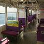 ●ポートライナー  あまり乗客がいません。 ガラガラのポートライナー。 三宮に向けて出発です。