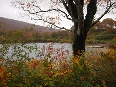 秋田県に入り、栗駒山荘の方へ。 途中の須川湖。標高高いので、寒い。
