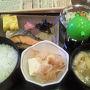 """●朝食@カフェエスタシオン  JR米子駅構内で朝食を頂きました。 """"カフェエスタシオン"""" 洋食、和食、朝カレーとありました。 僕は、和食!"""