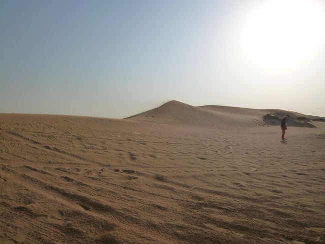 15時頃予約していたオプショナルツアーのオリエンタルツアーズの車で<br />デザートサファリの場所へと移動です。<br /><br />30分程移動したのち砂漠に着きました!