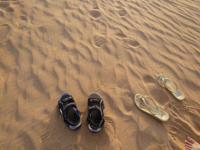 途中で自由時間があったので、撮影タイムです。<br />サンダルを脱ぐと砂が気持ちいい!
