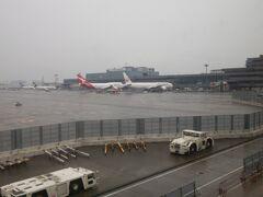 機内で一晩、グッスリ寝て過ごし、成田に到着。 同じタイミングで、シドニーからの直行便、QF21便も到着。 これにしとけば、シドニーでの出発時間は、早朝ではなく、さらに1日遊んだ後の夜でしたが…予算の都合で、仕方がありません。