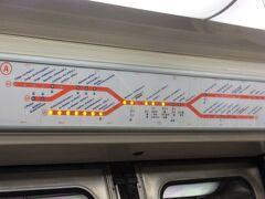 17:38 リヨン駅から、1駅だけRER A線にのりました。