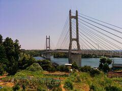 能登島にわたる橋です。