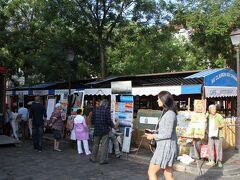 バス停の名前になっている、テルトル広場ではチョットしたマーケットが 画家さんが沢山居る。