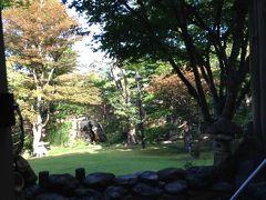 8/30 朝の光が木々を照らして 気持の良い朝です。