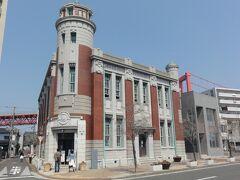 このビルが一番目立っていました。旧古河鉱業若松ビルです。レンガ造りの洋風建築です。
