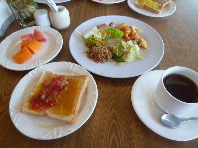 4日目の朝にして初めてセリンホテルで朝食を食べます。<br /><br />明日は早朝に出国だから今回このホテルで朝食を食べるのはこの一回だけ!<br /><br />期待してたよりしっかりしていました!<br />日本でいうビジネスホテルのようなところなので、新聞を読んでいるサラリーマンも多かったです。