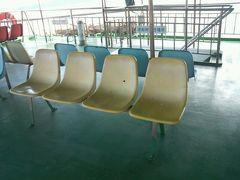 ◎旅猿ロケ地  旅猿が座っていた外の席 今日は無理だー 寒すぎるー