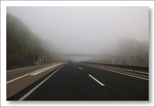 Solitary Journey [1465] 紅葉景色を楽しむ♪朝靄の山中で紅葉観賞、よかったです。 <秋景色の恐羅漢山を走る>広島県安芸太田町