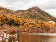 通過した道路では、紅葉の景色が綺麗でした 11:00榛名湖に到着