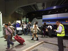 22時ちょっと前に南バスターミナルに到着しました。