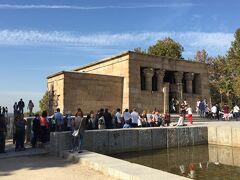 エジプトから寄贈された廟。