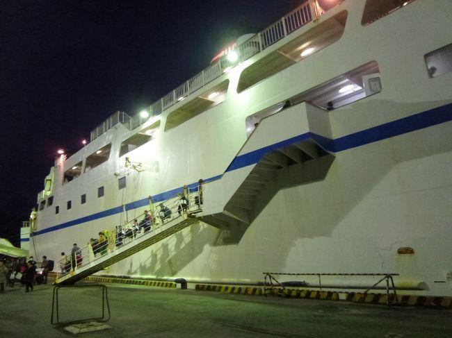 17:40鹿児島港に到着です。<br /><br /><br />降りた頃にはもう暗かったです。