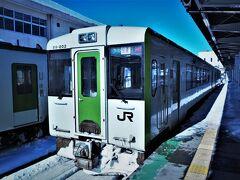 終点米沢に到着。