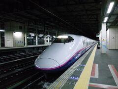"""北上に到着し東北新幹線で南下。    一日中""""冬""""を満喫した旅でした。"""