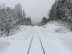 線路は続く、どこまでも雪の中