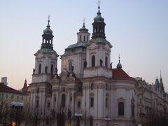 旧市街広場の「聖ミクラーシュ教会」