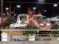 TGVがパリ・リヨン駅に到着したのは夜9時50分のこと。
