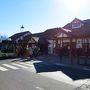 登山客は予想外に少なかった。 しかし駅舎の中はかなり混雑、富士五湖方面のバスに次々と吸い込まれていく。  ここからロープウェイ駅までは徒歩15分程度。 ところが、ここでアクシデント発生。 強風で運転見合わせだという。 やむなく「バスルート」に変更なのだが、バスの時刻まで40分待ち・・・ 大幅なロス。