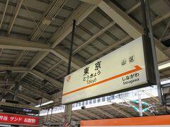 そして当日ラッシュが終わった頃ゆっくり自宅を出発しいつもの路線を使います。 東京駅について昼食を食べたりしているとそろそろ時間です。 有人改札から切符を見せて入場します。