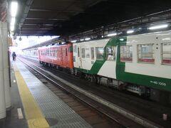 まずは盛岡駅まで普通列車で北上します。