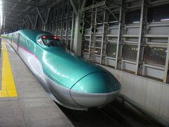 新青森駅に到着です。 乗ってきた車両です。