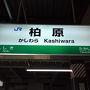 ●JR柏原駅サイン@JR柏原駅  JR天王寺駅から普通電車で約20分。 JR柏原駅に到着です。
