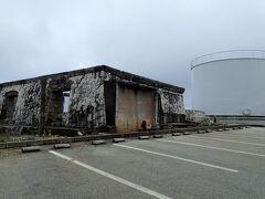 西港にあった遺跡のような廃墟