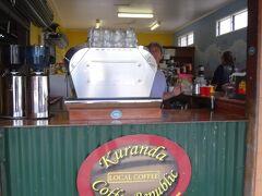 ほっと一息コーヒーを。 近くで栽培しているオーストラリア産のコーヒーを使用しているとの事ですが、 ちょっとお高いコーヒーでした。